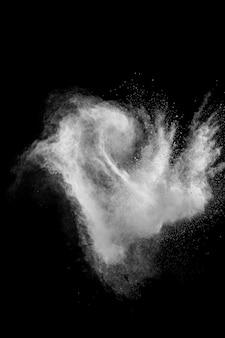 Witte poeder explosie wolk
