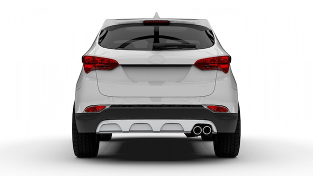 Witte premium stad crossover auto