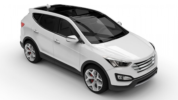 Witte premium stad crossover op wit