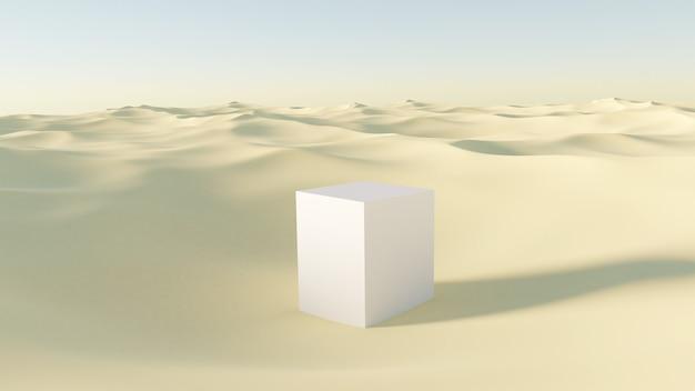 Witte productstandaard in de woestijn
