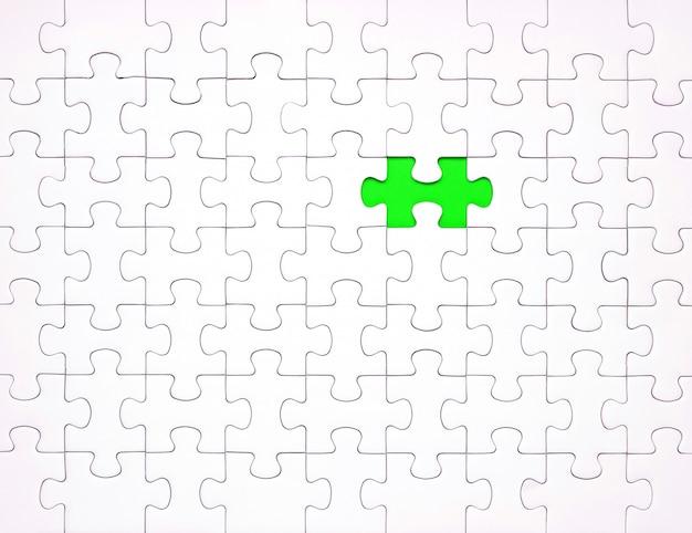 Witte puzzelstukjes op blauwe achtergrond. achtergrond voor inhoud