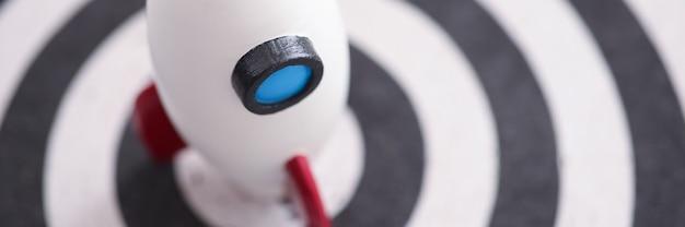 Witte raket is op spel darsa close-up