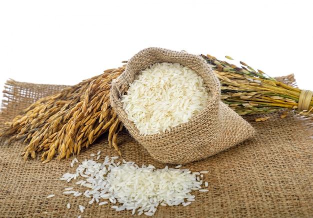 Witte rijst (thaise jasmijnrijst) en niet-gemalen rijst