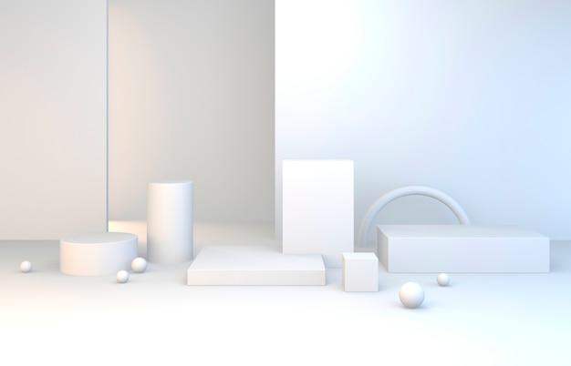 Witte set van 3d-afbeeldingen set