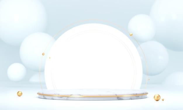 Witte sjabloon product fase huidige achtergrond, leeg podium