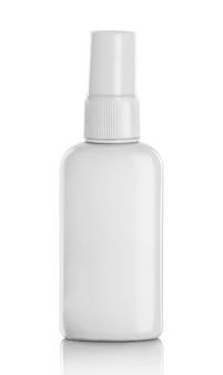 Witte spray fles geïsoleerd
