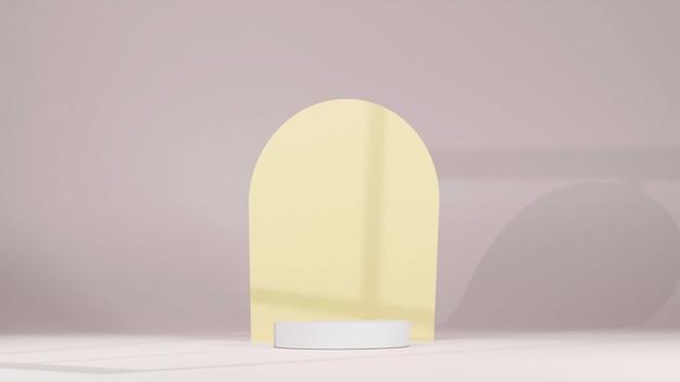 Witte standaard of podium voor productweergave in 3d render
