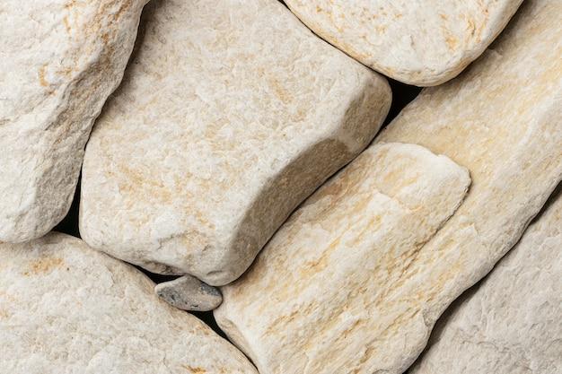 Witte stenen collectie close-up