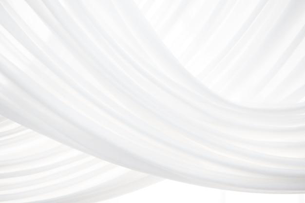 Witte stof textuur achtergrond. witte satijnen stof