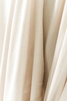 Witte stoffen materiële textuur met exemplaarruimte