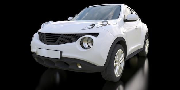 Witte subcompacte cross-over suv-auto