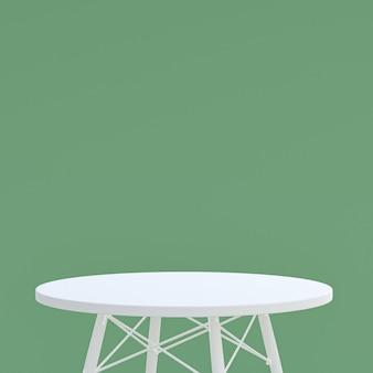Witte tafel of productstandaard voor displayproduct