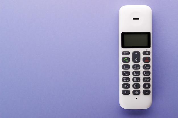 Witte telefoonhoorn