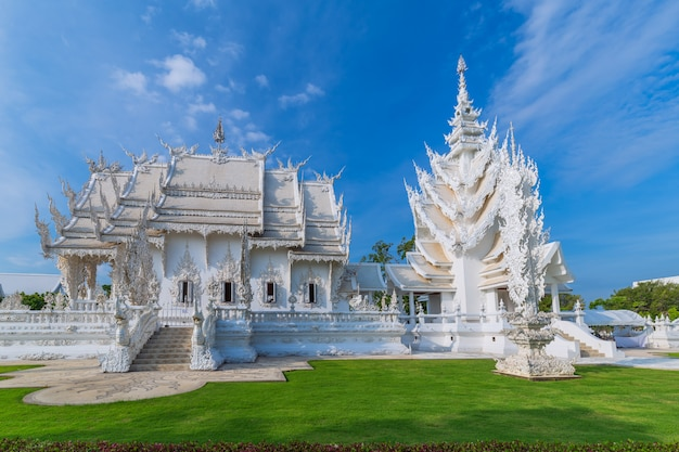 Witte tempel, thailand tempel - wat rong khun van chiangrai thailand