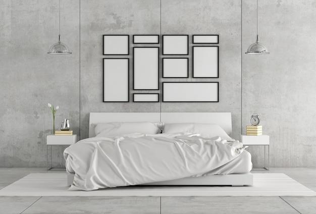 Witte tweepersoonsslaapkamer