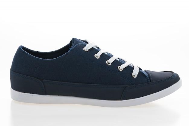 Witte uitstekende weergave nieuwe schoenen