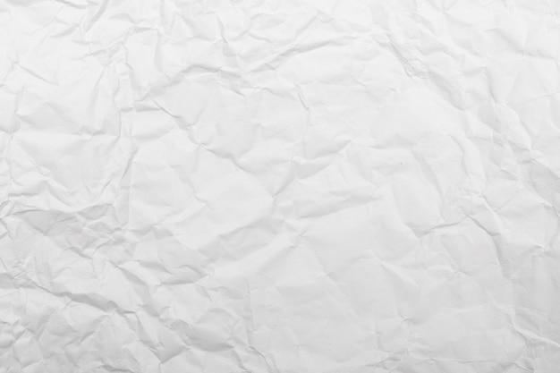 Witte verfrommelde document textuurachtergrond.