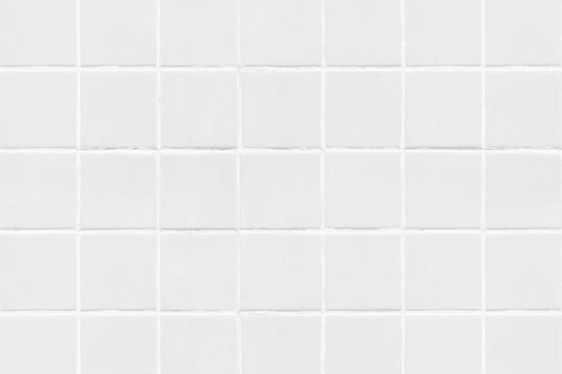 Witte vierkante betegelde textuurachtergrond