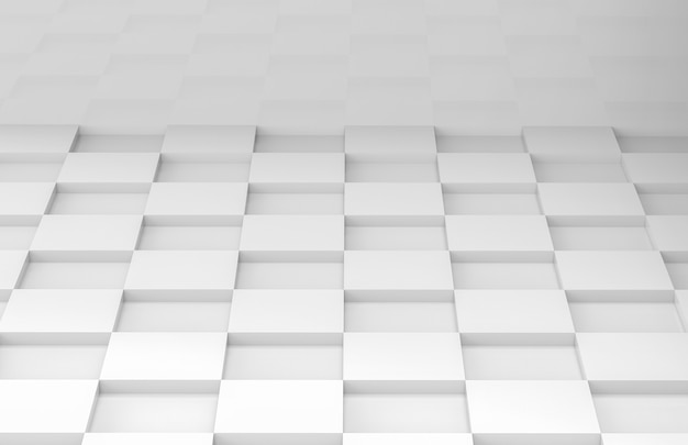 Witte vierkante raster tegel vloer hoek kamer muur