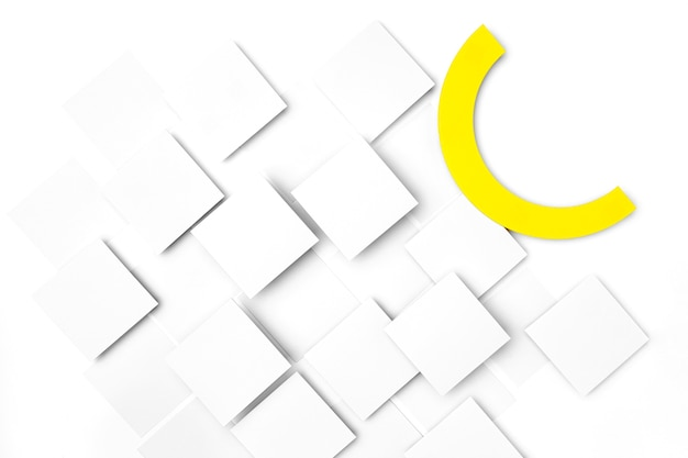 Witte vierkanten achtergrondontwerp