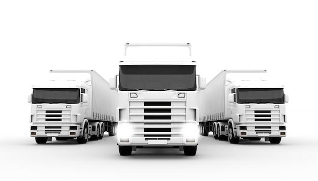 Witte vrachtwagens