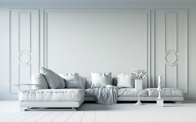 Witte woonkamer.