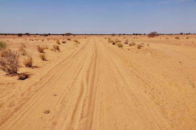 Woestijn sahara in soedan