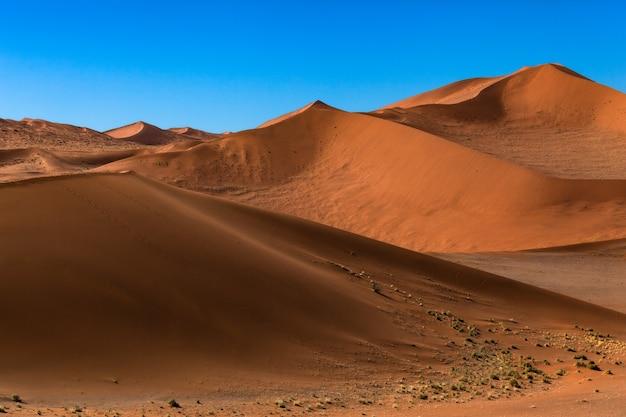 Woestijn zandduinen blauwe hemel