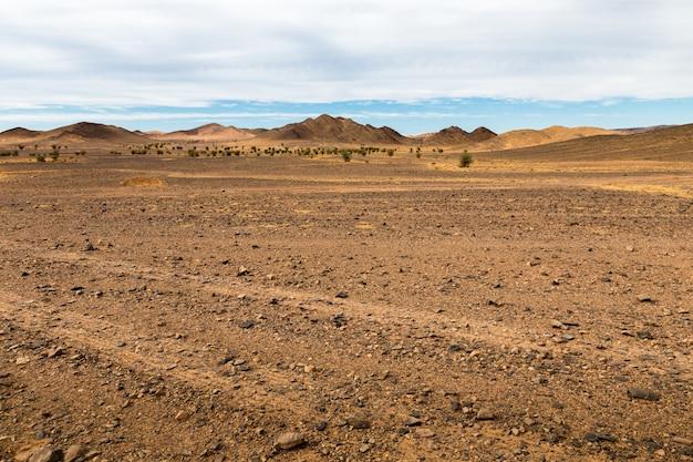 Woestijnlandschap, marokko.