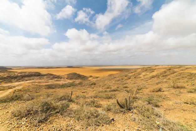 Woestijnzand berglandschap, zandduinen