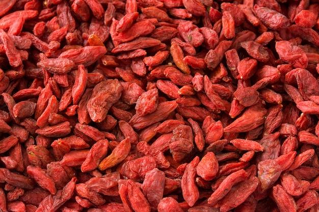 Wolfberries of goji bessen oppervlak