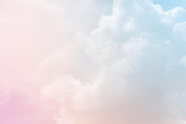 Wolk achtergrond met een pastel kleur