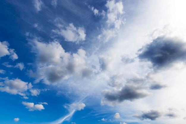 Wolken aan de hemel tijdens het begin van een onweersbui. zomertijd van het jaar.