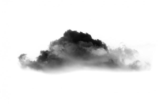 Wolken op wit. wolken pictogram