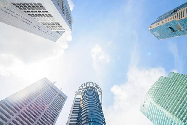 Wolkenkrabber die singapore inbouwen