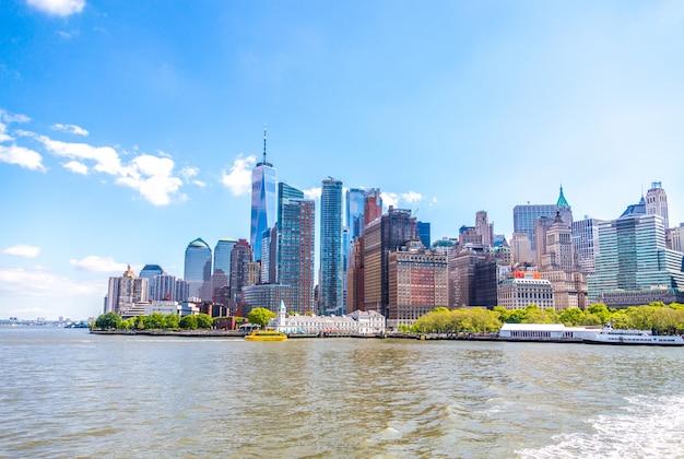 Wolkenkrabbers in lower manhattan, new york in de vs