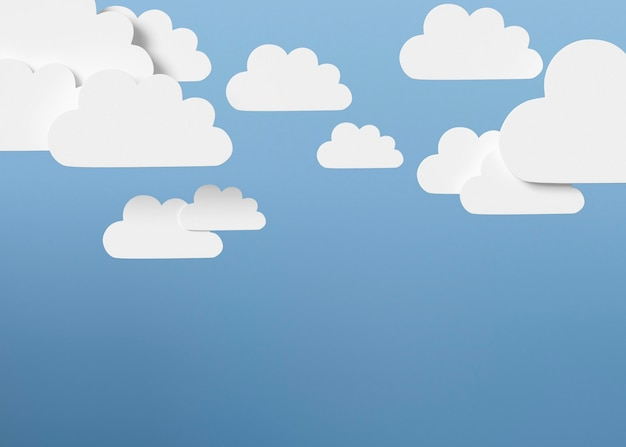 Wolkenvormen met blauwe achtergrond