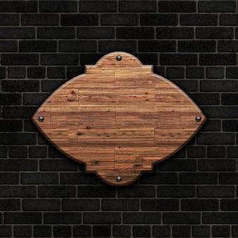 Wood op bakstenen