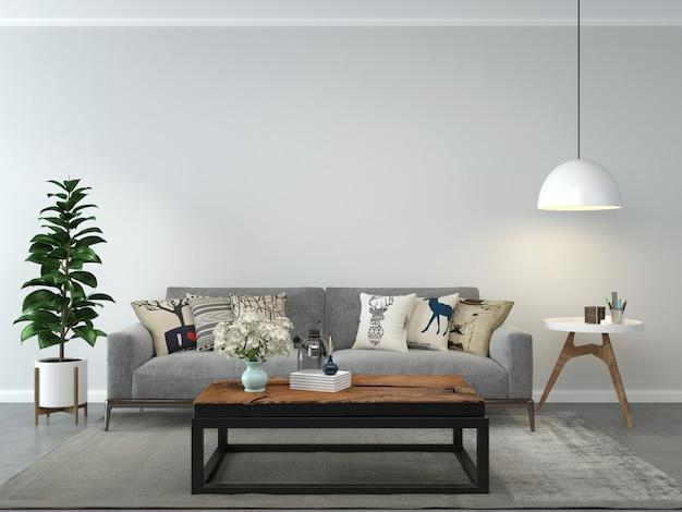 Woonkamer interieur huis vloer sjabloon achtergrond mock up ontwerp kopie ruimte