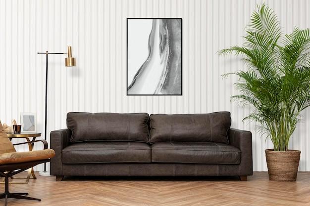 Woonkamer interieur in luxe industriële stijl