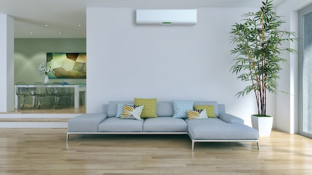 Woonkamer met airconditioning