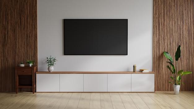 Woonkamer met een televisie aan de muur