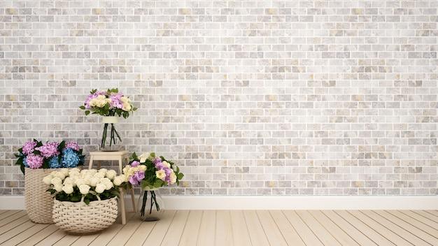 Woonkamer of andere kamer decoratie bloem - 3d-rendering