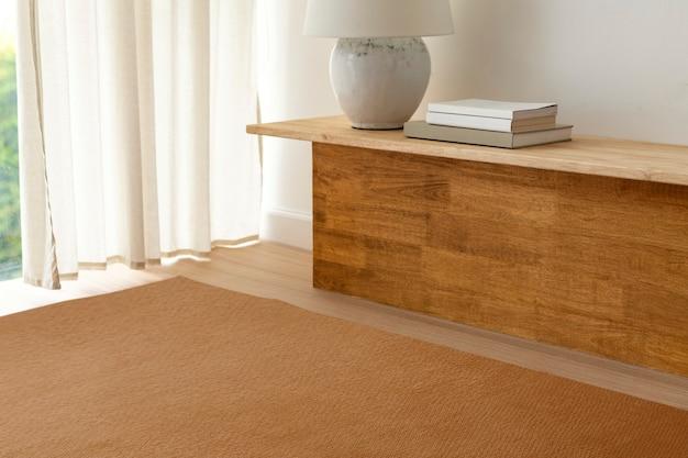 Woonkamerbeeld, warm houten huisdecor