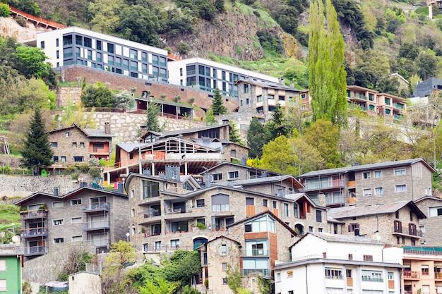 Woonwijk in de pyreneeën