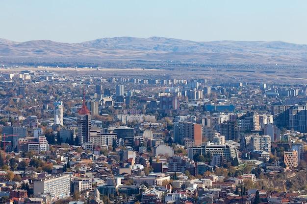 Woonwijk van de stad tbilisi, sovjet-architectuur