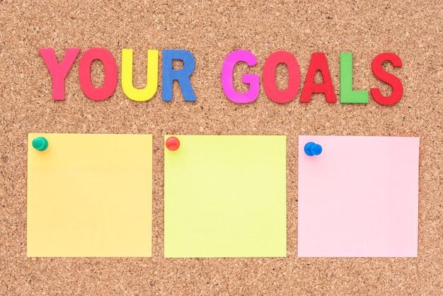 Woord je doelen met notitieblok