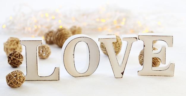 Woord liefde en slinger