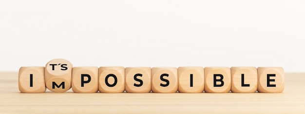 Woord onmogelijk veranderen in zijn mogelijk.