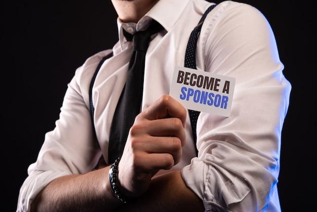 Word een sponsor.